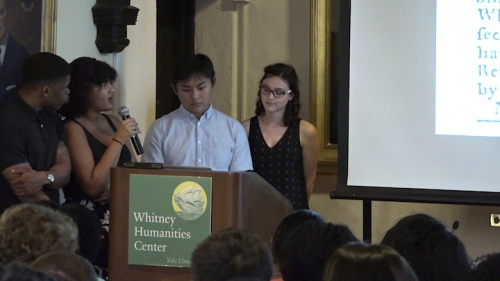 Students present this digital humanities project
