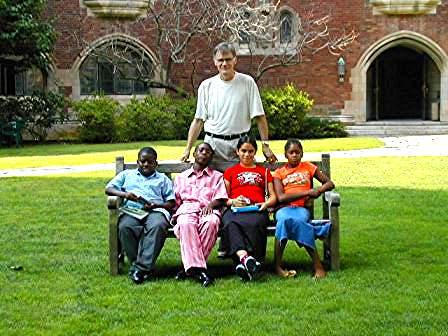 Living Classroom Foundation students with Professor David Blight