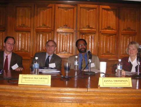 Pablo de Greiff, Thomas McCarthy, Robert Gooding-Williams, and Janna Thompson