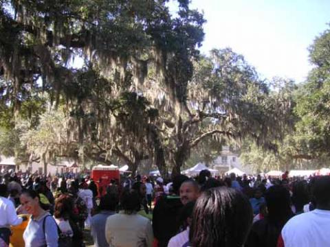Crowd at Heritage Days Celebration