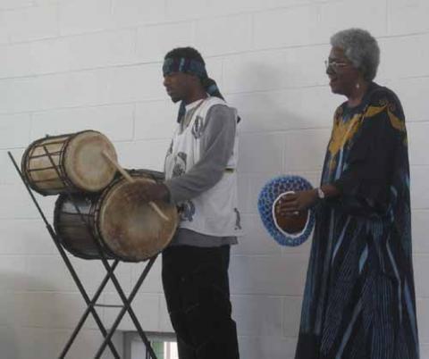 Thomas and Deborah Calhoun performing