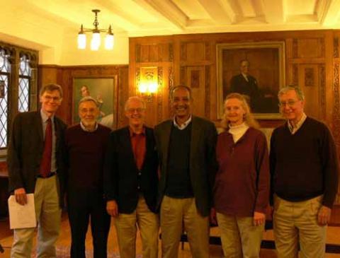 David Blight, David Brion Davis, Lloyd Garrison, Richard Blackett, Edith Garrison, and David Montgomery
