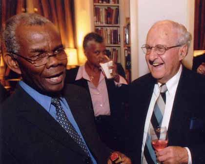 Ambassador Sylvester Rowe and Al Marder