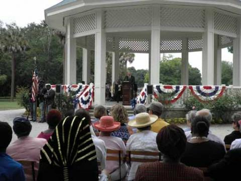 Dedication of the Charleston Memorial Day Site- audience