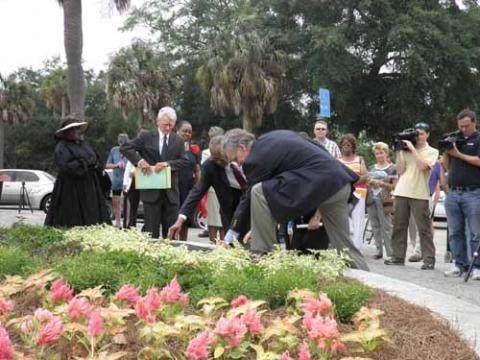 Dedication of the Charleston Memorial Day Site pic 1