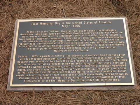 1st memorial day Plaque