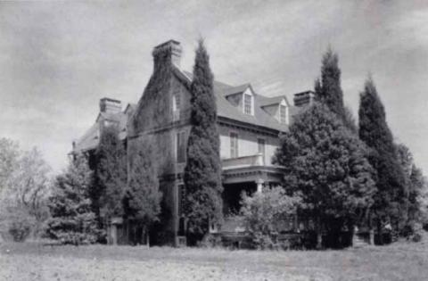 The Ball family's Comingtee Plantation in 1940, where Priscilla lived until her death in 1811.
