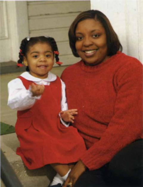 Mrs. Thomalind Martin Polite and her daughter Faith.  Photo by Rick McKee/charlestonphotographer.com