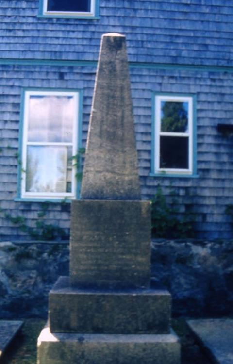 Gravestone of William Vernon, Newport, Rhode Island