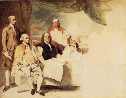 American Negotiators, Treaty of Paris (1783)   Credit: The Winterthur Museum, Garden and Library