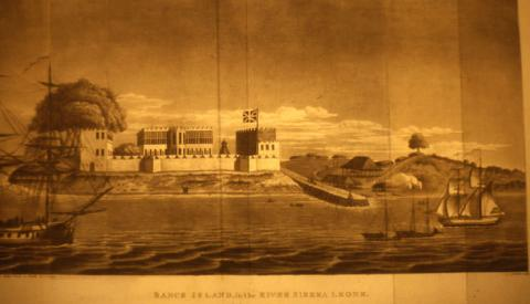 "Drawing of ""Bance Island,"" 1805"