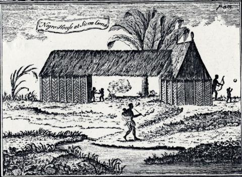 African house in Sierra Leone (18th century)