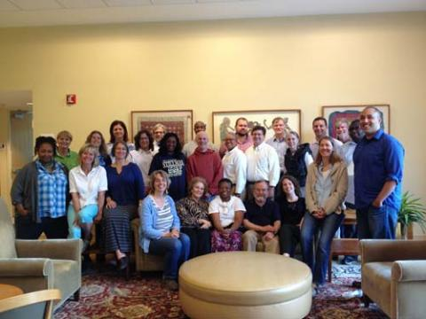 Class photograph of the recently concluded Slave Narratives summer seminar