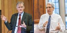 Sterling Professor of History David Blight and President Peter Salovey