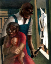 John Wilson, compositional study for The Incident (detail), 1952. Yale University Art Gallery, Janet and Simeon Braguin Fund, Estate of John Wilson